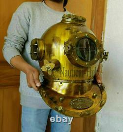 18 Divers Casque De Plongée Casque U. S Navy Mark V Deep Sea Antique Scuba Vintage