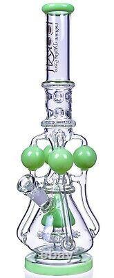 19 Pouces Bong Lookah Big Large Large Tall Chambre Pipe D'eau Platinum Green USA