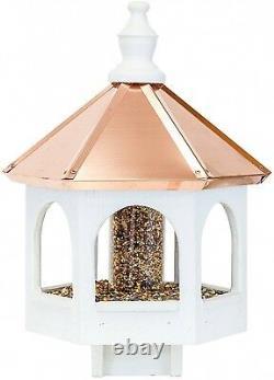 20 Copper Top Bird Seed Feeder Amish Handmade 14 Round Post Mount Gazebo USA