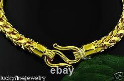 24k 9999 Jaune Or Dragon Échelle Bracelet Fait À La Main Aux États-unis 7 Pouces 45.25 Grammes