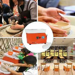 25cm 350w 110v Electric Pottery Roue Machine De Travail En Céramique Clay Art Craft Aux États-unis