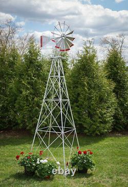 30 Ft Tall Hand Made In The USA Aluminium Garden Windmill, Wind Wheel
