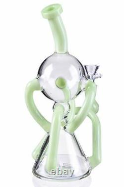 5 Bras Recycleur Fumer Bong Unique En Verre Pipe D'eau Hookah Bubbler Vert États-unis