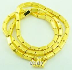 9999 24k Yellow Gold Baht Boîte Collier De Chaîne À La Main Aux Etats-unis 90,00 Grammes