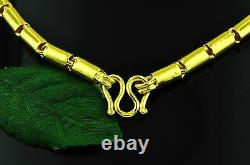 9999 24k Yellow Gold Round Barrel Collier À La Main Chaîne USA 75,00 Grammes