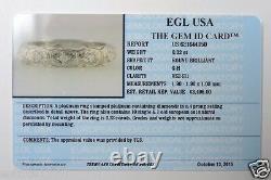 Antique Art Deco Vintage Eternity Bande De Mariage Platinum Taille De La Bague 5.25 Egl USA