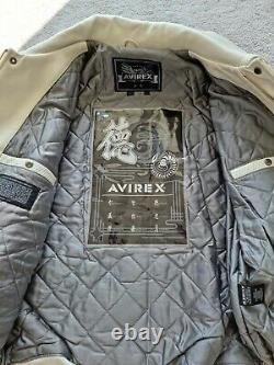 Avirex Grand Master 75 Veste En Cuir Grande Extrêmement Rare Et Exclusive