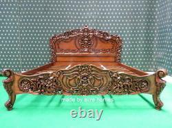 Bespoke USA King Taille Mahogany Français Rococo Bed Designer Mobilier Baroque