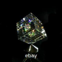 Bold Whisper Glass Art Cube Sculpture Par Jon Kuhn Crystal Chihuly Jack Storms