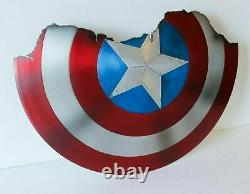 Bouclier Brisé Du Capitaine America Metal Prop Replica Avengers Endgame Bouclier Cadeau