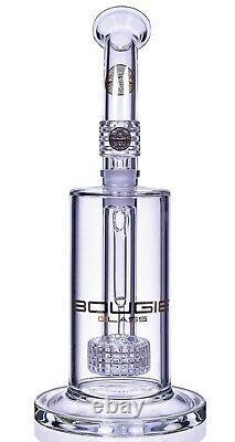 Bougie Glass 10 Pouces Matrix Perc Bong Premium Qualité Water Pipe Side Car USA