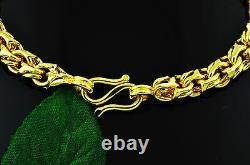 Bracelet En Or Jaune Massif 24k 999.9 Fait Main Aux Etats-unis 7 Pouces 30.00 Grammes