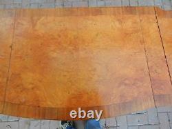 Burl Top Vanity Drop Leaf Tableau 43 1/4 Clawfeet, Miroir, Entreposage