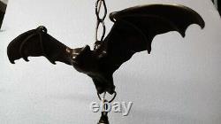 C'est Fabuleux! #100 Pendentif Bronze Gothic Bat Chandelier Avec Globe USA