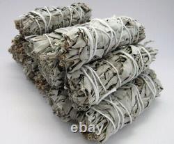 California White Bio Sage Smudge Stick Set Of 100 Non Ogm Fabriqué Aux États-unis
