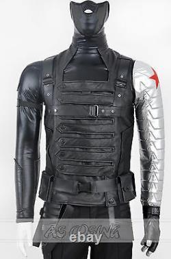 Captain America Costume De Soldat D'hiver Bucky Barnes Cosplay Costumes Outfit
