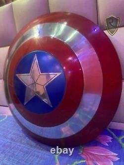 Captain America Shield Metal Prop Replica Écran Précision 11 Échelle Cadeau