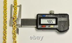 Collier 9999 24k Yellow Gold Anchor Chaîne Faite À La Main Aux États-unis 189,60 Grammes 24 Pouces