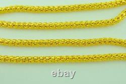 Collier Balance Dragon 75.20 Gram Handmade In USA 24 Pouces 24k 9999 Yellow Gold