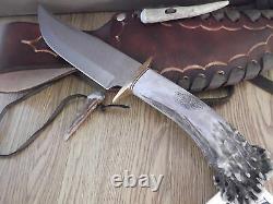 Couteau Bowie 11 1/2 Dans L'ensemble Fabriqué En U.s. Aby Ken Rich