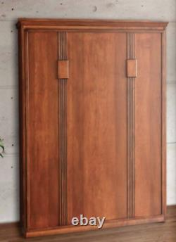 Custom Built USA Hand Made To Order Full Wall Bed Solid Wood Murphy Bed