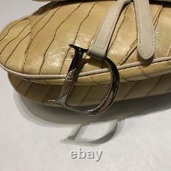 Dior Saddle Bag Mink Fur And Ael Leather Rare