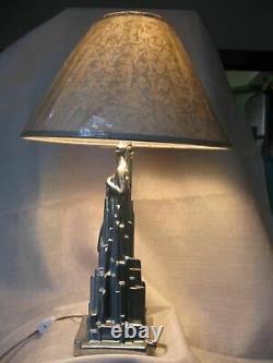 Frankart Spirit Of Modernism Base De Lampe Art Déco Non Peinte Et Tout En Métal 13usa