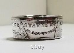 Genuine U. S. Morgan Dollar Silver Coin Anneau 90% Argent Tailles Faites À La Main 7,5 14