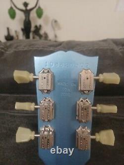 Gibson Les Paul Studio Pelham Blue Made In USA 2012 Guitare Électrique, Main Gauche