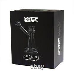 Grav Labs Arcline Upright Bubbler Tuyau D'eau En Verre Bong Livraison Gratuite États-unis