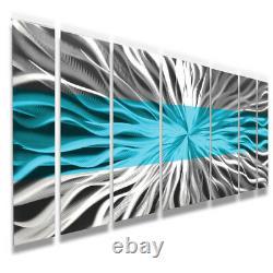 Metal Wall Art Blue Modern Abstract Sculpture Painting Maison Décor De Brian Jones