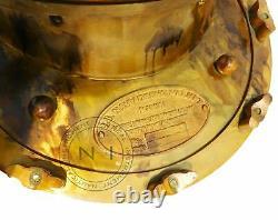 Nautique 18'' U. S Navy Casque De Plongée Mark V Verre Vintage Accueil Casque Décoratif