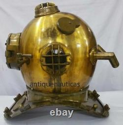 Nautique Anchor Engineering Deep Sea Divers Casque U. S. Navy Casque De Plongée 42cm Ht