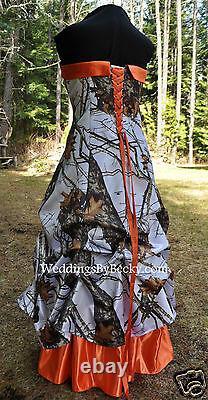 New Camo Wedding Gown-pick Up Jupe-custom Made- Aux Etats-unis