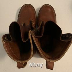 Nicks Bottes Fabriquées À La Main USA Leather Work Logger Travelers Bottes Hommes Sz 10,5 D