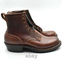 Nicks Nick's New Bottes Robert Sz 9.5d Brown Leather Handmade USA