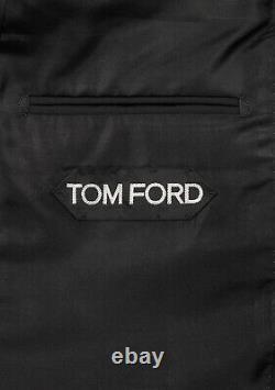 Nouveau Tom Ford Windsor Signature Solid Black Taille De La Combinaison 50 It / 40r U. S