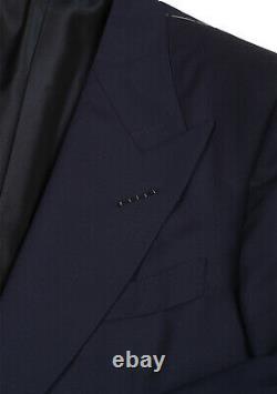 Nouveau Tom Ford Windsor Signature Solid Blue Taille De La Combinaison 52 It / 42r U. S