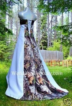 Nouvelle Robe De Mariée Camo -mossy Oak Satin Camo- Made Only In USA