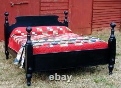 Pays Français Pin Tavern Bed, King Size, États-unis Reproduction À La Main