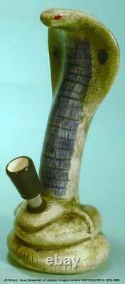 Pipe Filtre D'eau Bong Céramique Fumée Hookah Cobra Snake Design #1804 Made USA