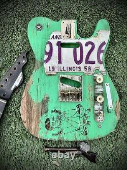 Pistols Crown Barncaster Tele Body Seulement Guitare Artisanale Made Aux USA Rare