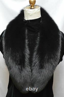 Real Black Fox Fur Collar Hommes Femmes Détachable Nouveau Made In The USA