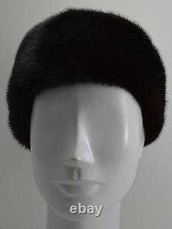 Real Black Mink Fur Headband New (made In The U.s. A.)