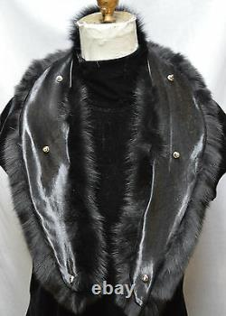 Real Fox Fur Collar Indigo Blue Frost Hommes Femmes Détachable Nouveau Made In The USA