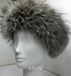 Real Silver Fox Headband New (made In The U.s. A.)
