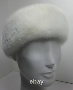 Real White Mink Fur Headband Nouveau Fabriqué Aux États-unis A. Authentique