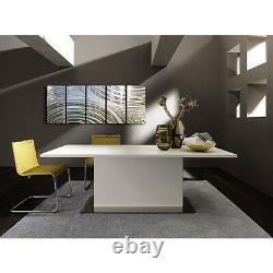 Silver Modern Metal Wall Art Neutre Suspension Art Pour La Maison Ou Le Bureau Wow