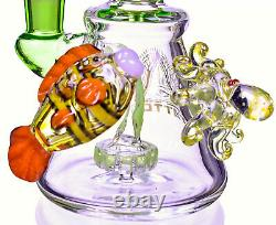Tattoo Glass 10 Pomme De Douche Bong Pipe D'eau Recycler Thick Bubbler Cute USA