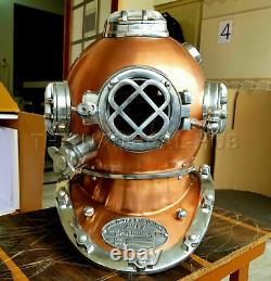 Vieux Casque De Plongée Antique Scuba U. S Navy Mark V Scuba Divers Cadeau Casque